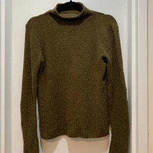Madewell Mockneck Sweater, Size Small, Olive